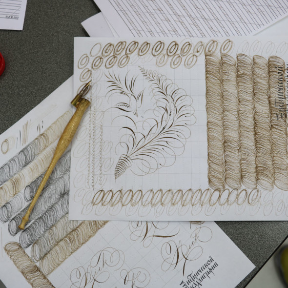 """Spencerian"" Intensive course by Michael Sull in Moscow"