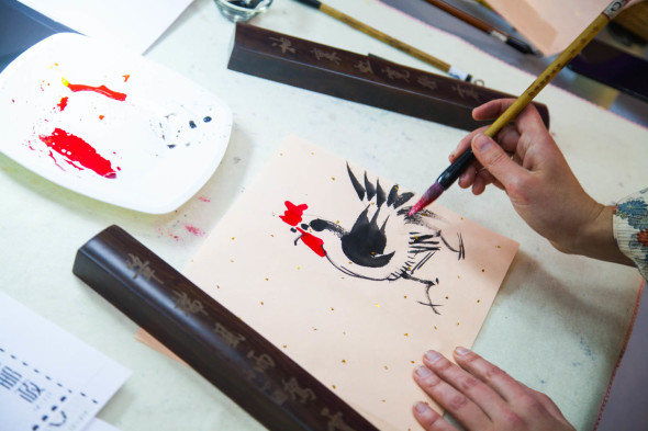 Guohua Style Fire Rooster workshop