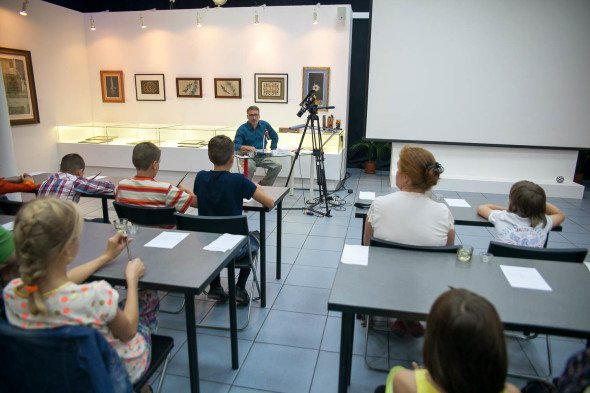 "Presentation of the ""Pointed pen course"" for kids"