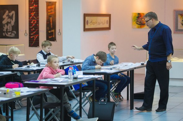 Graduation of the children's calligraphy course