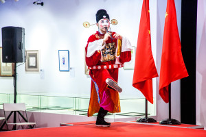 """Performance of Chinese """"Shandong ensemble of Lu theater"""" at the Contemporary Museum of Calligraphy"""