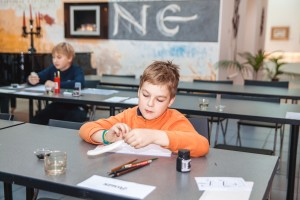 Test of the quill at the children's course