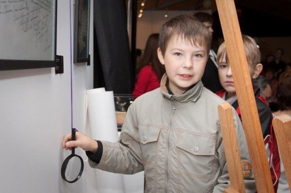 The youngest participants of the exhibition.