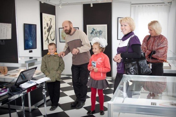 A few days prior to the  opening of the exhibition in Veliky Novgorod