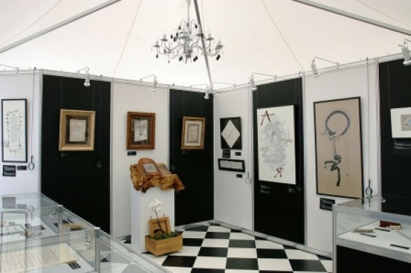 A part of the exposition of the International Exhibition of Calligraphy in Rosinka International Residential Complex