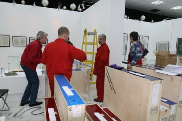 Preparations for the opening of the new exposition