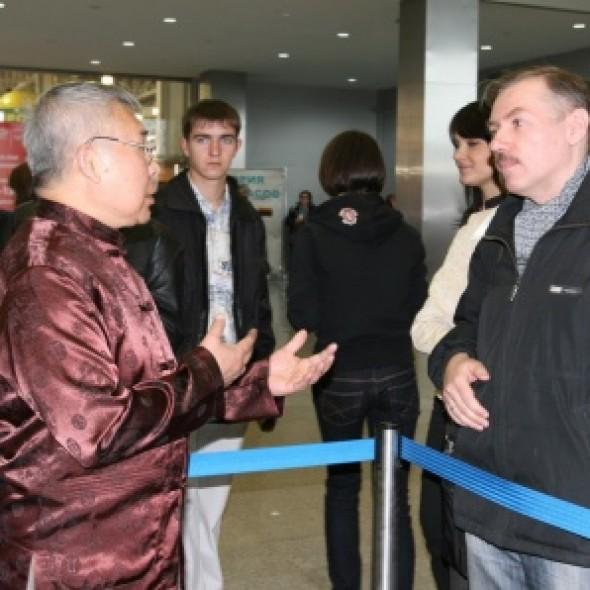 国际书法展推介会上的中国日