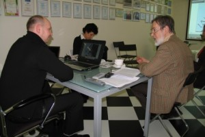 彼得·乔比奇科和阿列克谢·沙布罗夫会面