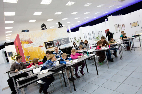 The first children's class at the School of Calligraphy