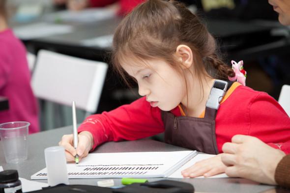 Первое занятие детского курса Школы каллиграфии