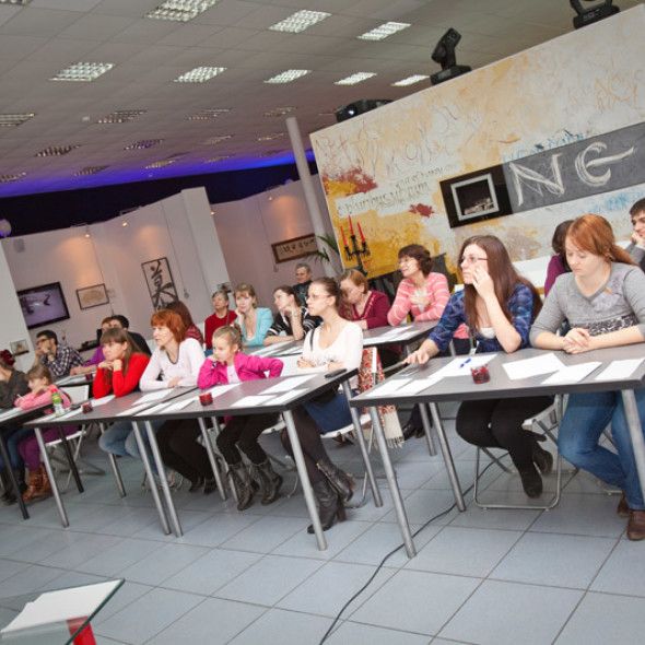 """A workshop class by calligrapher Yegor Lobusov, """"The Process of Calligraphy for Improving Spirit and Body"""""""