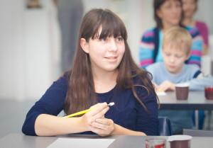 儿童书法学校开学日