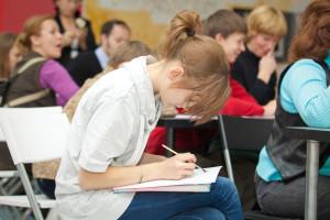 Workshop class by calligrapher Yekaterina Nazarova