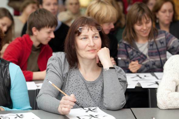 Workshop class by calligrapher Yekaterina Nazarova