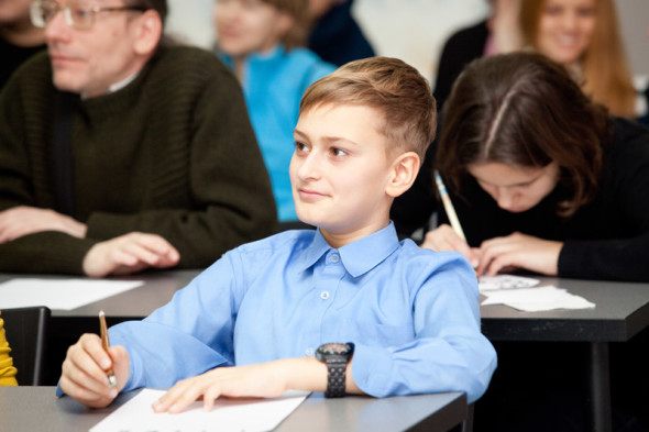 Young enthusiasts of beautiful handwriting