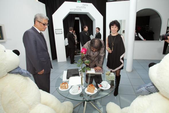 Открытие выставки Ким Чон Чхиля