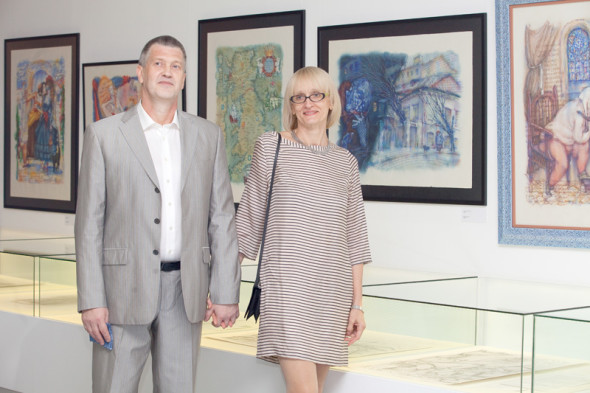 Opening of Calligraphy, Water, And Chance one-man exhibition of works by Vitaly Shapovalov