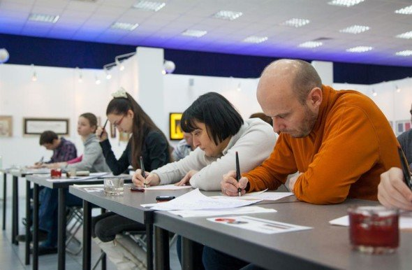Master Class By Artyom Lebedev At The Contemporary Museum of Calligraphy