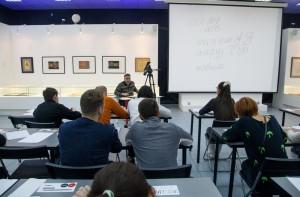 阿尔乔姆·列别杰夫在现代书法馆开办大师班