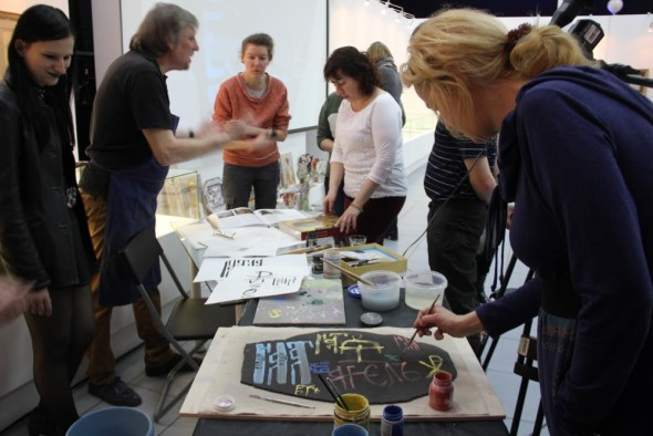 A master class on ceramic calligraphy by Sergey Shikhachevsky