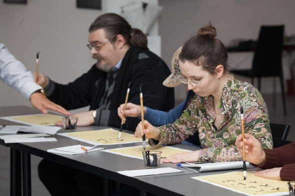 The press-conference of the 5th International Exhibition of Calligraphy
