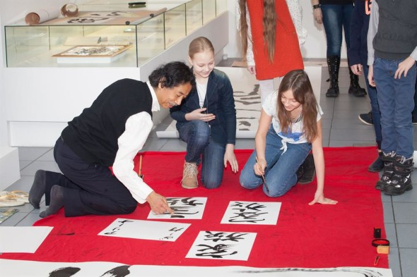 A Master class - Art of Japanese calligraphy and Ikebana in Moscow