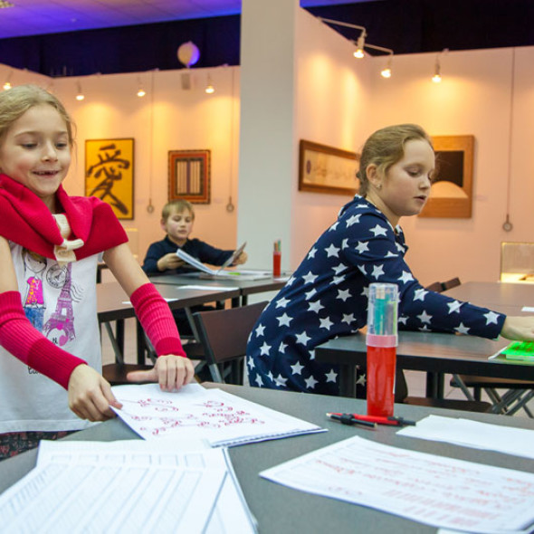 Classes of the children's group of the national School of Calligraphy