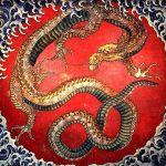 Японская живопись - иероглифы