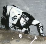 Graffiti and stencils - Stencil art