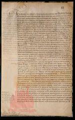 XVIII century. Letter of empress Ekaterina I