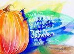 Pumpkin - американская каллиграфия