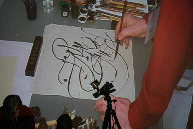 """December 13-14, 2008 . """"Calligraphic Gamuts as the Basis of the Art"""". """"How Instruments Influence Calligrapher's  Expressive Means"""". Master classes of Pyotr Chobitko, member of the Union of Artists of Russia."""