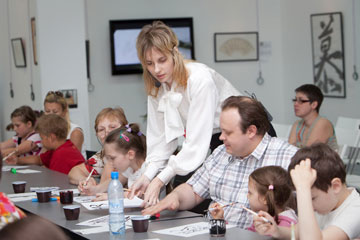 June 1, 2011. Master-classes for young visitors  on International Children's Day