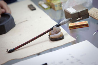 "November, 13th, 2011. Master-class by calligrapher Yegor Lobusov ""The Process of Calligraphy as a Means of  Consciousness and Body Organization """