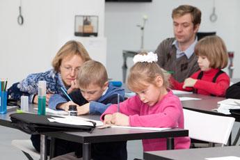 Первое занятие в школе для юных ценителей каллиграфии!