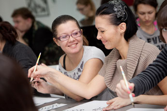 December 10, 2011. Holiday workshop class was held at the Contemporary Museum of Calligraphy