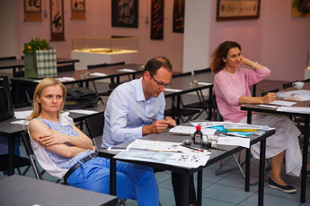 Final calligraphy class in the season