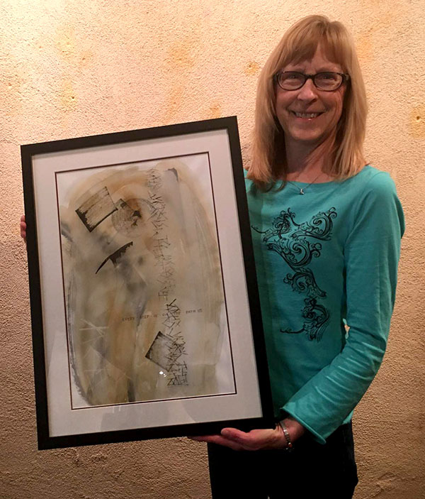 "Calligrapher charts ""Pathways"" to peace at Mancos Olio gallery"