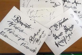 Уроки каллиграфии на выставке Euro Shoes Premiere Collection