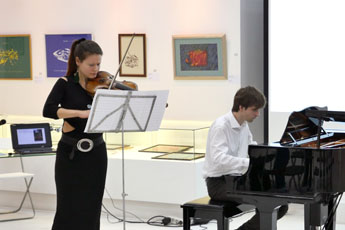 Evening of classical music in the Contemporary Museum of Calligraphy