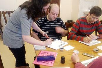 Урок каллиграфии в Центре паталогии речи и нейрореабилитации