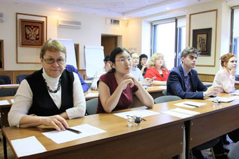 Calligraphy master class held in the Moscow State Institute for International Relations