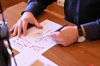 Мастер-класс по каллиграфии в МГИМО