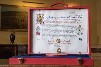 Her Royal approval Buckingham Palace reveals elaborate notice signed by the Queen that gives her formal consent for Prince Harry to wed Meghan Markle