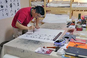 Встреча представителей музея с каллиграфами из Гуанчжоу