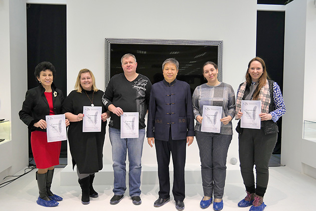 The first graduates of the introductory Chinese calligraphy course