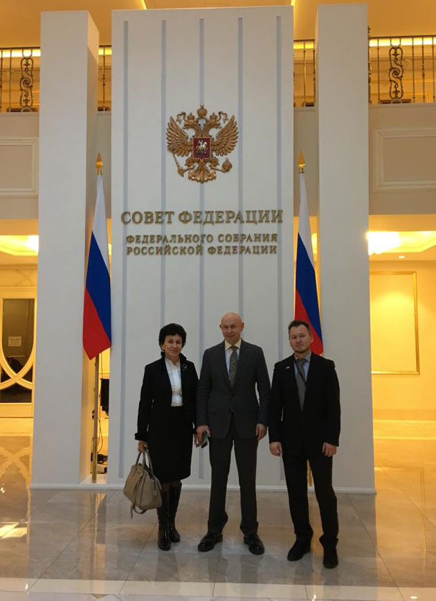 Museum team met with Dmitry Mezentsev in the Federation Council