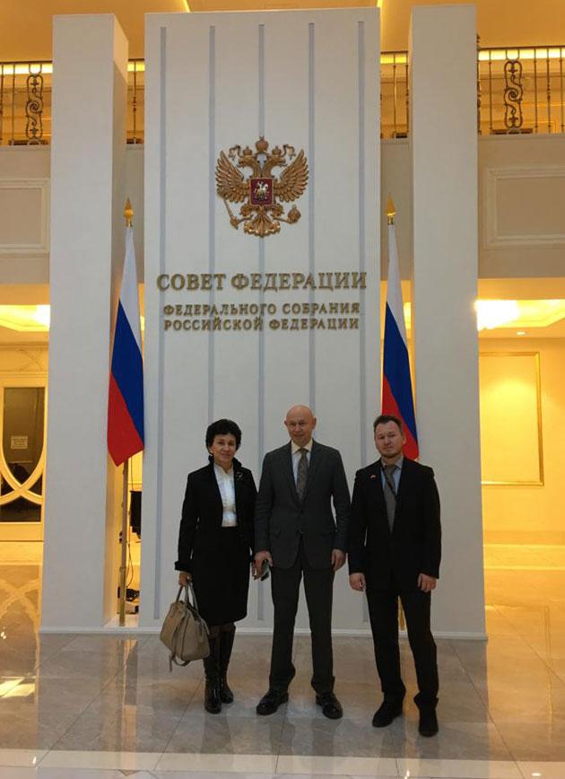 В Совете Федерации состоялась встреча команды музея с Дмитрием Мезенцевым