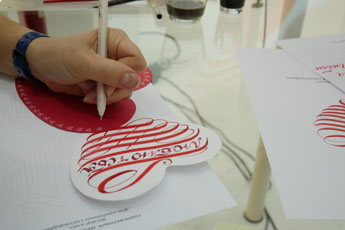 Greeting card workshop in the Contemporary Museum of Calligraphy