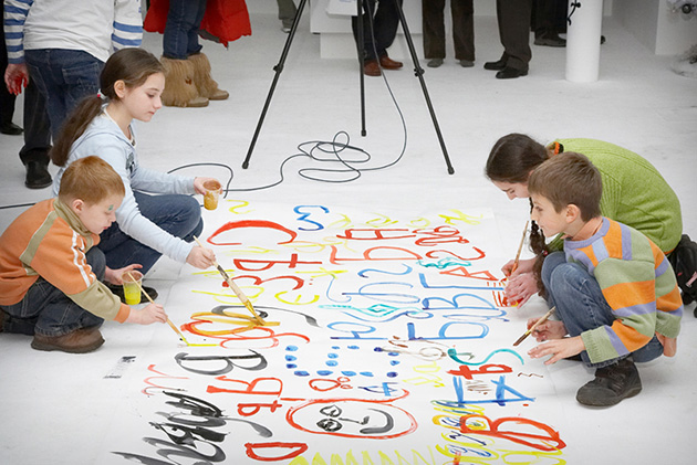 Работа с посетителями в Современном музее каллиграфии